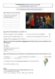 English Worksheet: The Big Bang Theory : Sheldon and Penny go shopping!