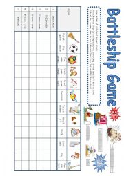 English Worksheet: Battleship