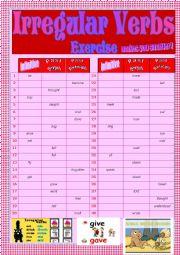 English worksheet: Gr Ex - Irregular verbs chart.