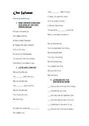 English Worksheet: One woman
