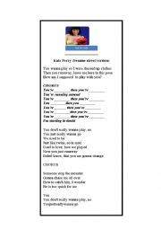 English Worksheet: Song Hot n�Cold