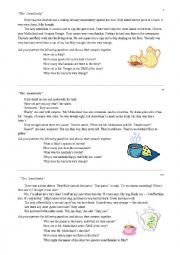 English Worksheets: Landlady Jigsaw Reading