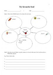 English Worksheet: Writing: My Favourite Food