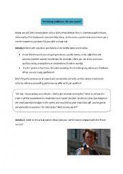 English Worksheet: Do you punk?