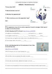 English Worksheet: WWF worksheet based on some videos