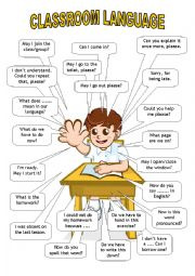 English Worksheet: Classroom language (student)