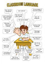 Classroom language (student)