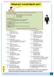 What are you trying to say? Word stress exercise - correcting information