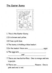 English Worksheet: The Easter Bunny