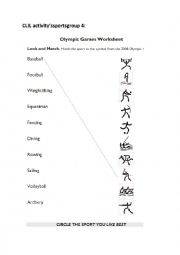 English Worksheet: Worksheets theme sports (CLIL)