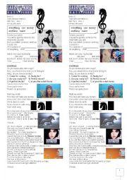English Worksheet: Lyric Dark Horse By Katy Perry