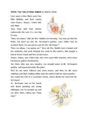 Peter rabbit graded reader story