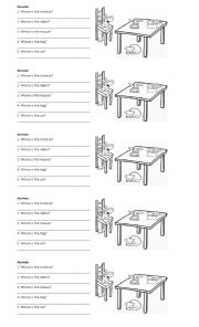 English Worksheet: Prepositions ON - IN - UNDER