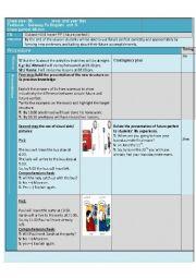 English Worksheet: Future Perfect Bac Lesson Plan