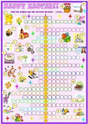 English Worksheet: Easter:Crossword puzzle