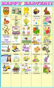 English Worksheet: Easter:pictionary