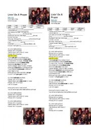 English Worksheet: Song:Living on a prayer (Bon Jovi)