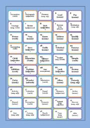 English Worksheet: WORD FORMATION BOARD GAME 1