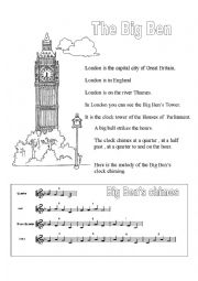 English Worksheet: THE BIG BEN