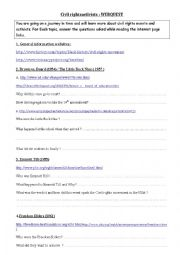 English Worksheet: Civil Rights WEBQUEST