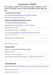 english worksheets civil rights webquest. Black Bedroom Furniture Sets. Home Design Ideas