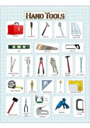 English worksheet: Hand Tools - (1) Pictionary