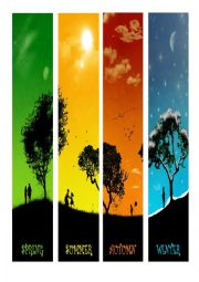 English Worksheet: Four seasons with only a picture