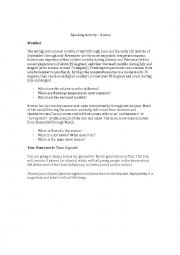 English Worksheet: Speaking Activity - The City of Boston
