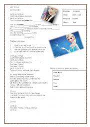 English Worksheet: Let it go - Demi Lovato