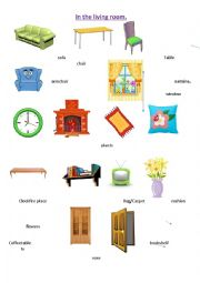 English Worksheet: In the living room