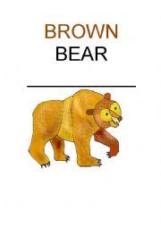 English Worksheet: Brown Bear flashcards