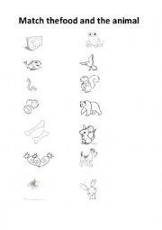 English Worksheet: What do animals eat?