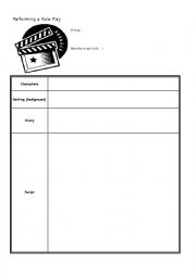 English Worksheet: role play script form