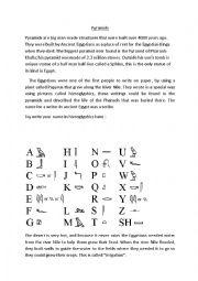 English Worksheet: Ancient Egypt Introduction & worksheet