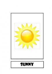 English Worksheet: Flashcard Weather