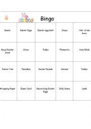 English Worksheet: Easter Bingo Part 3