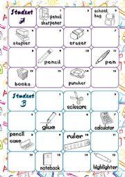 Alphabeth & School objects
