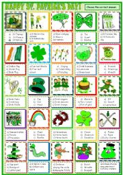 English Worksheet: St.Patrick´s Day : multiple choice activity