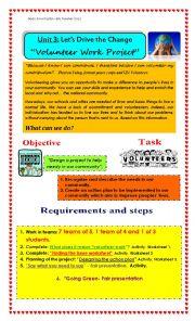 worksheets volunteer work worksheets