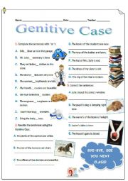 English Worksheet: Genitive Case (´s)