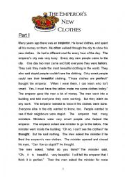 English Worksheet: The Emperor�s new clothes