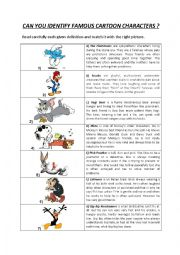 Identifying cartoon characters by reading a simple identity card.