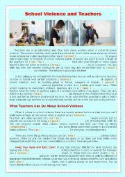 School Violence and Teachers