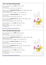 Easter Song and activities for kids