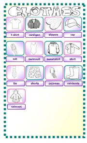 English Worksheet: Clothes pictionary - II