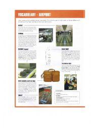 English Worksheet: Vocabulary - Airport