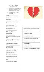 English Worksheet: Noun Clauses Song
