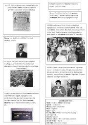 English Worksheet: Black History Timeline