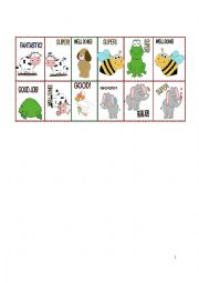 English Worksheet: REWARD STICKERS part 3