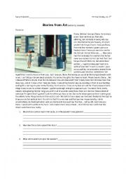 English Worksheet: Story from Art - Reading, Writing, Creative, Fun!
